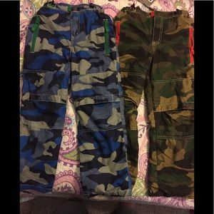 Mini Boden Camo Lined Pants Boys 8